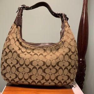 EUC Vintage COACH Ergo Monogram Bag ~khaki/brown